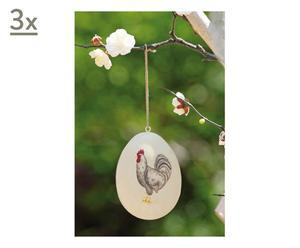 Set di 3 uova decorative in metallo easter - 11 cm