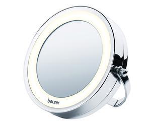 Specchio cosmetico illuminato bs 59 - argento
