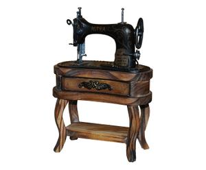 Modellino di macchina da cucire decorativo in legno - 19x13x7 cm