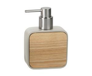 Dispenser portasapone in legno wood beige - 10x15x5 cm