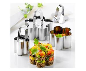 Set di coppapasta a fiore in acciaio milano - 9 pezzi
