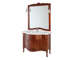Composizione bagno in legno massello con specchio Teodora