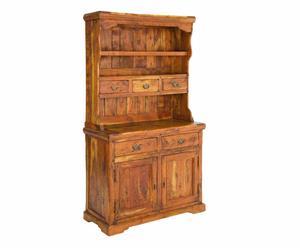 Alzata a 5 cassetti e 2 ante in legno CHATEAUX - 107x45x190 cm