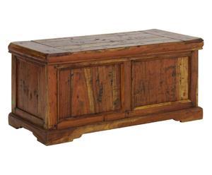 Cassapanca con vano interno in legno chateaux - 100x46x48 cm