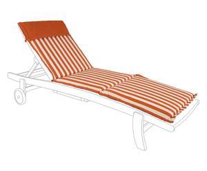 Cuscino sdraio in poliestere righe arancio - 185x57 cm