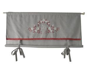 Tenda pacchetto in cotone con balza grigio - 120x100 cm