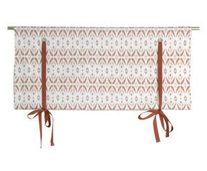 Tenda pacchetto in cotone a geometrie bianco e rosso - 100x120 cm