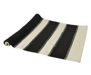 Stuoia a righe in cotone bianco e nero - 70x100 cm