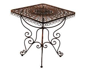 Tavolo quadrato in ferro ruggine - 90x90x75 cm