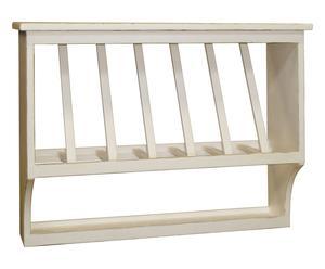 Piattaia a 7 scomparti in legno - 80x60x28 cm