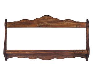 Piattaia in legno noce - 84x43x11 cm