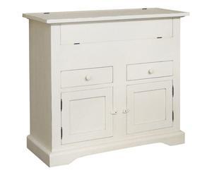 Madia in legno bianco - 115x102x48 cm