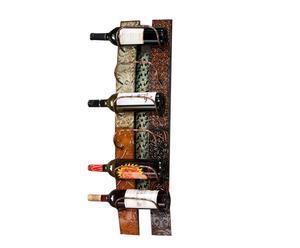 Portabottiglie da parete in metallo Old Times - 84x18x22 cm