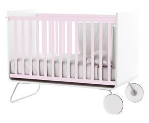 Lettino in legno e acciaio be cot rosa - 100x67x136 cm