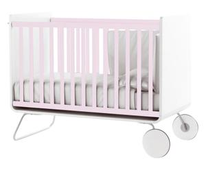 Lettino in legno e acciaio be cot up/down rosa - 100x67x136 cm