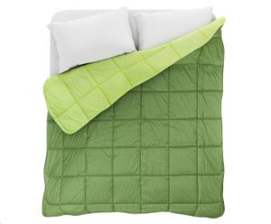 Trapunta invernale matr. Elegant - verde e verde scuro