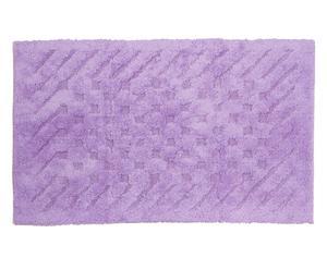 Tappeto bagno in cotone basic lilla - 55x90 cm