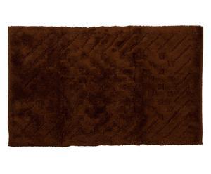 tappeto bagno  in cotone basic marrone - 80x180 cm