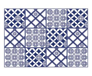 Adesivo in vinile con piastrelle Azul - 47x67 cm