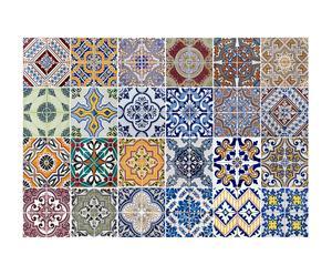 Adesivo in vinile con piastrelle Azulejos - 47x67 cm
