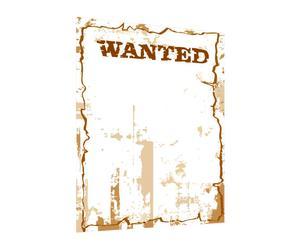 Lavagna adesiva in vinile con pennarello e cancellino Wanted - 50x70 cm