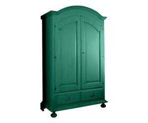 Armadio in legno massiccio Alfea verde - 61x126x200 cm