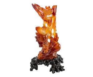 Statua antica scolpita a mano in pregiata corniola policromo FIRE - 7x18cm