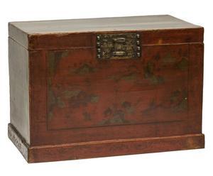 baule orientale antico in legno Hisako - 86x58x51 cm