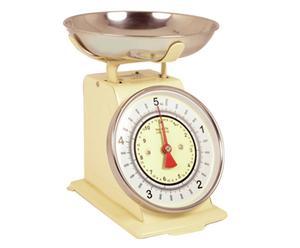 Bilancia analogica per alimenti in acciaio Grammi di gusto panna - 17x24x23 cm