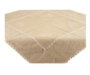 Tovaglietta Centrotavola in misto cotone lino dahlia - 100x100 cm