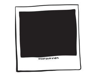 Lavagna in pvc magnetico polaroid - 60x60 cm