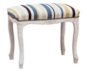 Sgabello con seduta imbottita in faggio bianco - 48x38x47 cm