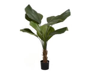 pianta di licuala artificiale in vaso - D 18/h 127 cm