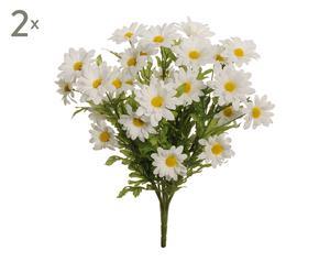 set di 2 bouquet di margherite - 7x69x7 cm