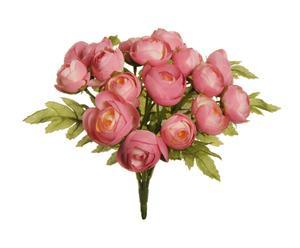 bouquet di ranucoli rosa - 7x22x7 cm