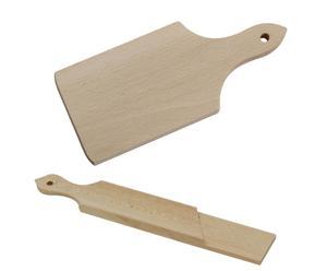 set di tagliere in legno e tagliere affettasalumi