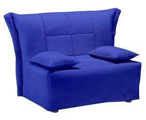 Poltrona letto singolo in cotone blu - 90x95x88 cm