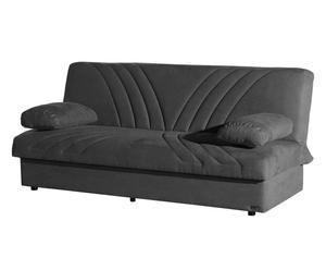 Divano letto in microfibra grigio - 1 piazza e mezzo