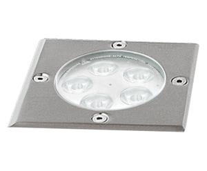 Faretto calpestabile in metallo a LED - D 16 cm