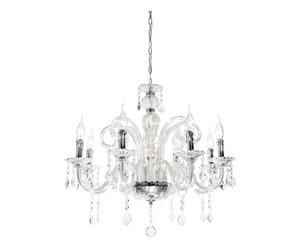 Lampadario in cristallo a 8 luci Crystal - 120x70 cm