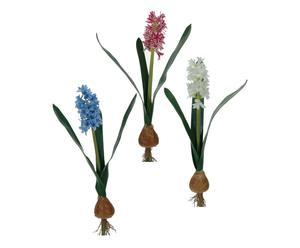 set di 3 giacinti in bulbo decorativi - 5x43 cm