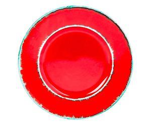 Piatto piano in ceramica Zante - d 28 cm