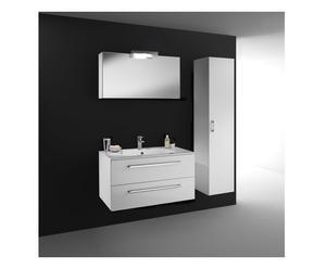 composizione bagno ester - bianco lucido