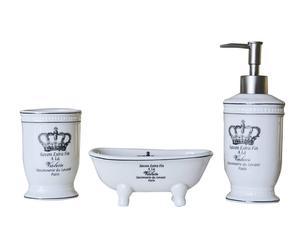 set bagno in porcellana savonnerie du levant - 3 pezzi