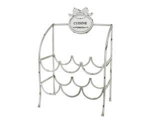 Cantinetta in ferro con 6 portabottiglie COUSINE - 31x19x46 cm