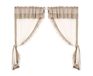 Set  di 2 tende in misto cotone lino con ManTovana felicia - 140x300 cm