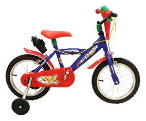 Bicicletta bimbo in acciaio Neosh blu e rossa - 14