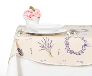 Tovaglia tonda in misto cotone Lavender - d 180 cm