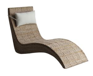 Chaise longue in banano con cuscino Lady - 125x60x90 cm
