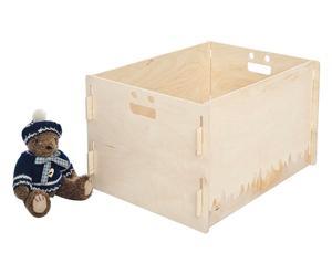 Scatola portaoggetti in legno naturale Oplà - 40x25x30 cm